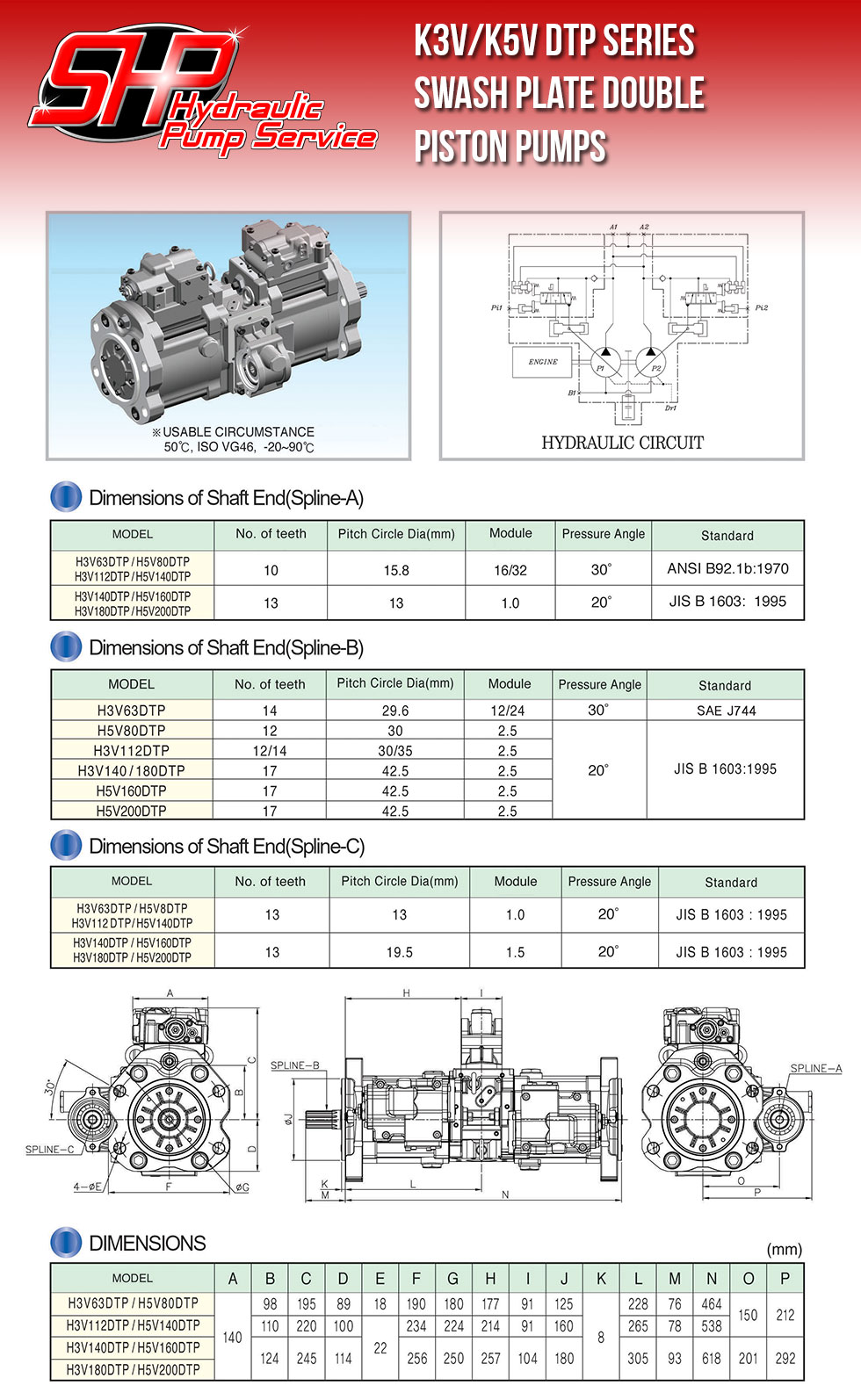 K3V/K5V DTP Series Swash Plate Double Piston Pumps