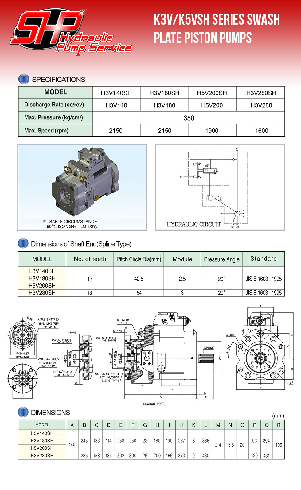 K3V/K5VSH Series Swash Plate Piston Pumps